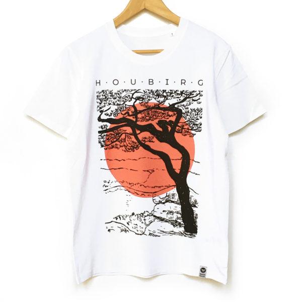 bambiboom Unisex Männer T-Shirt Houbirg, weiß