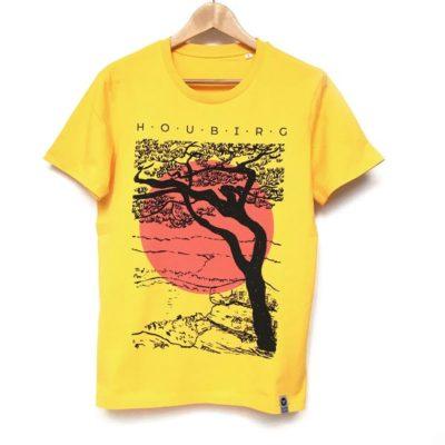 bambiboom Unisex Männer T-Shirt Houbirg, goldgelb
