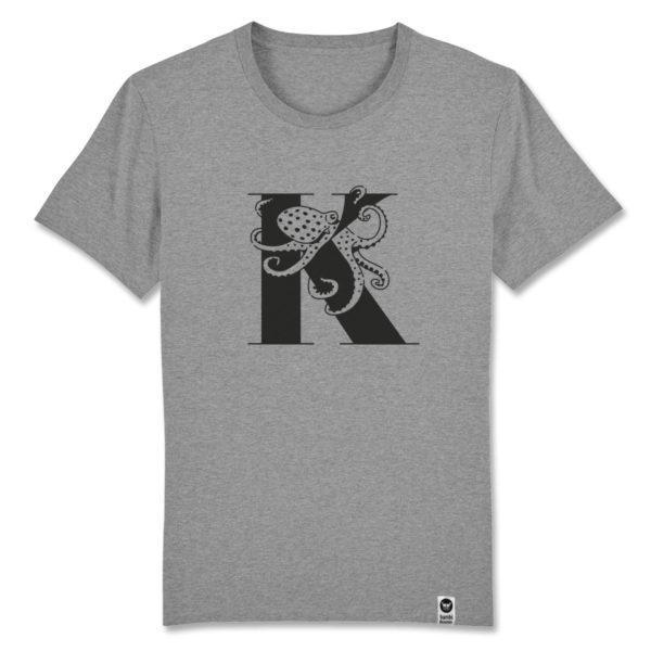 Kraken, bambiboom Typo T-Shirt ABC der Tiere