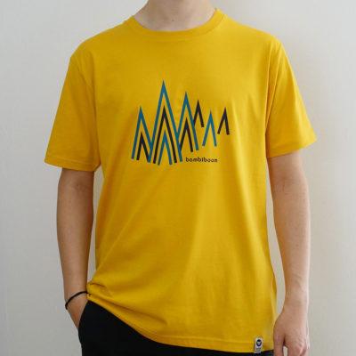 Herren fairtrade T-Shirt Bergwald, mango