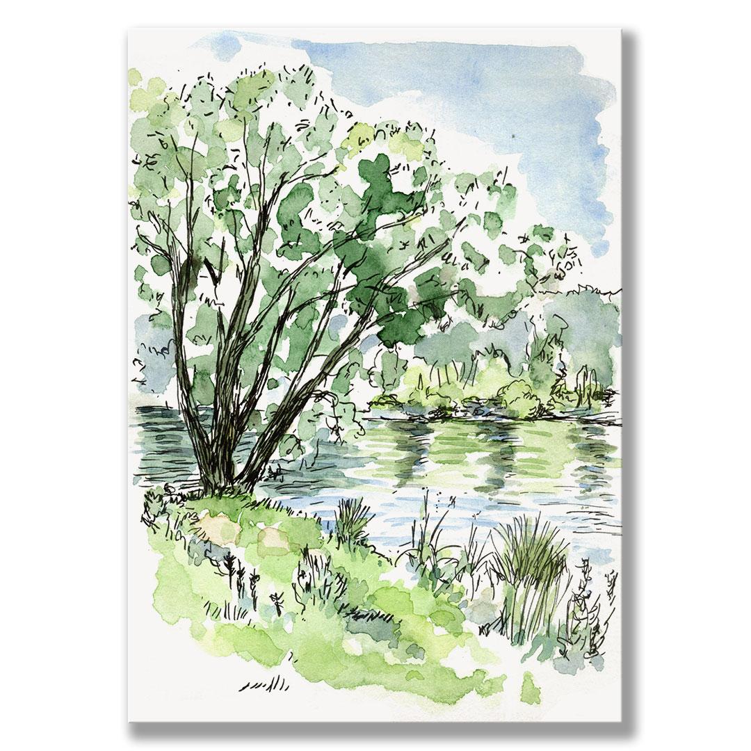 Kunstdruck Birkensee I