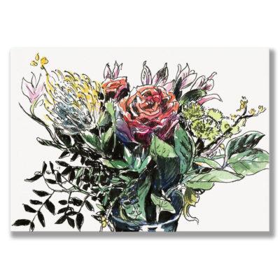 Kunstdruck Blumenstrauß I