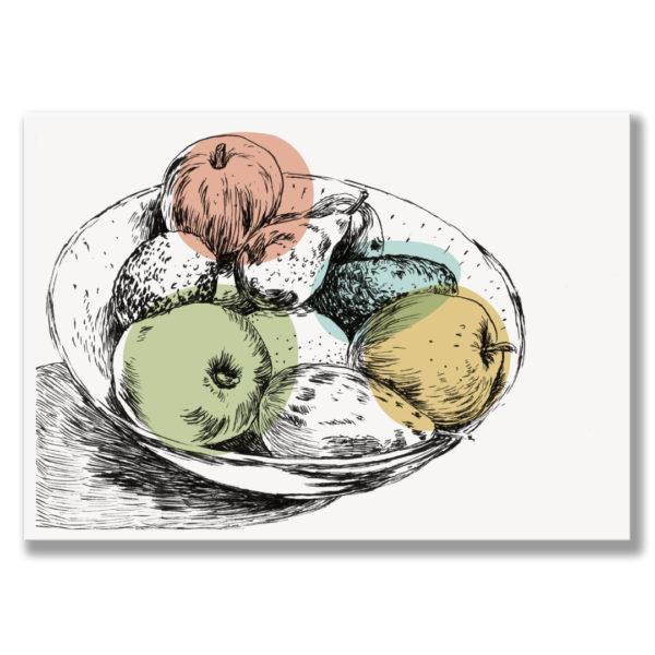 Kunstdruck Obst